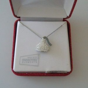 STERLING SILVER SWAROVSKI HERSHEY'S KISS NECKLACE